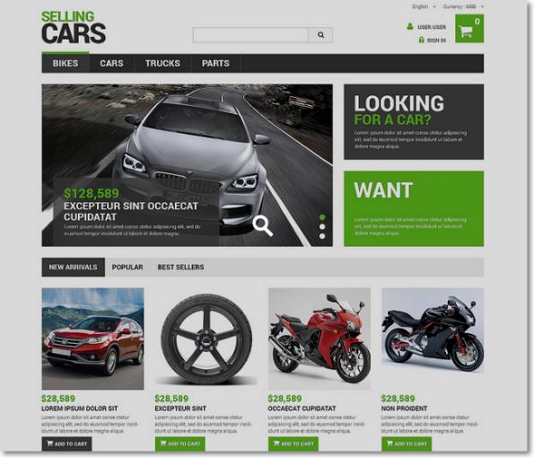 Selling cars tema para prestashop