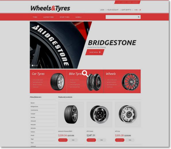 Wheels-Tyres tema para prestashop