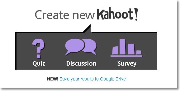 Crear nuevo Kahoots