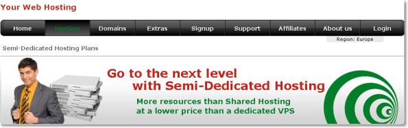 Semi-Dedicated Hosting Yourwebhosting