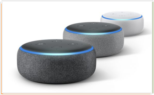 Tres colores Amazon Echo