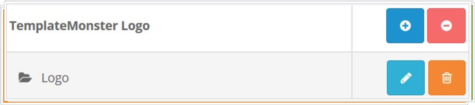 Encuentra el módulo de Logo-Pulse un botón de edición para configurar el módulo