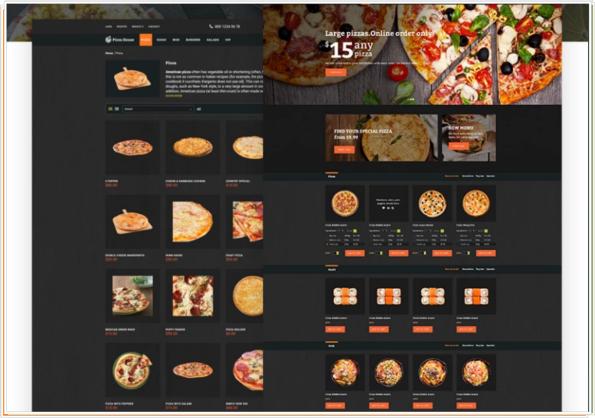 Fooder - Pizza Restaurant con sistema de pedidos en línea en una Plantilla para OpenCart
