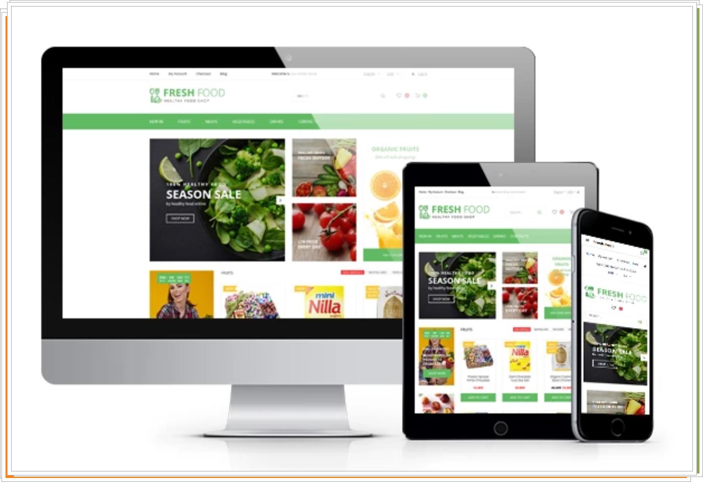 Fresh Food - Plantilla OpenCart de tienda de alimentos orgánicos saludables