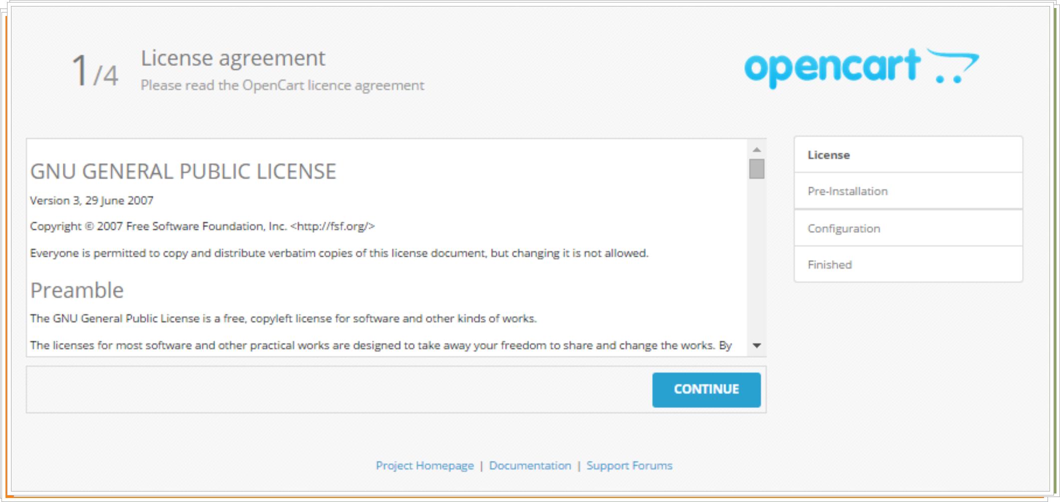 Licencia Opencart