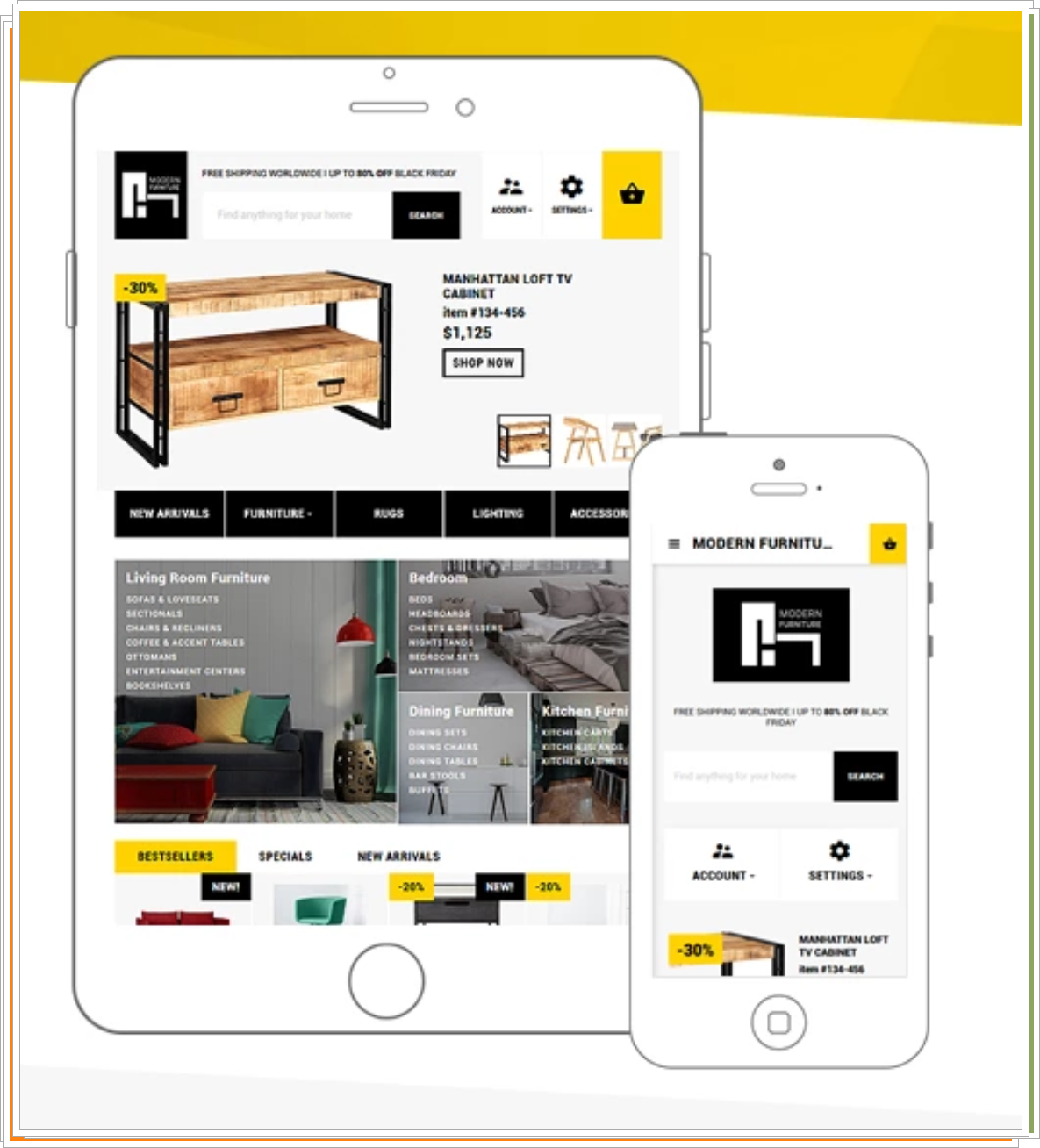 Modern Furniture - Interior & Home Decor Plantilla Responsive para OpenCart