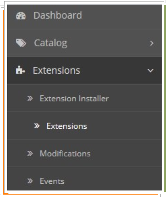 Navigate to Extensions-Extensions.